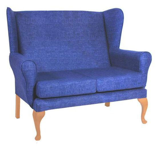 Care Home Seating: Sofas & Chairs Kensington 2-Seat Wing Sofa